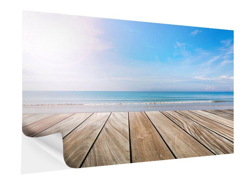 Klebeposter Das schöne Strandhaus
