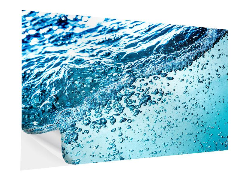 Klebeposter Wasser in Bewegung