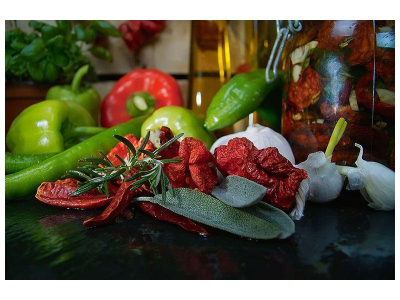 Klebeposter Mediterranes Gemüse
