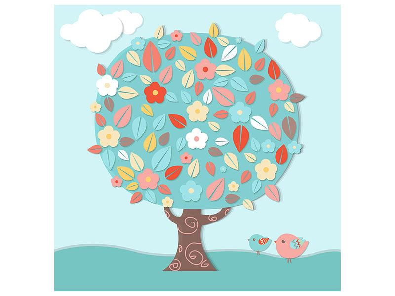 Klebeposter Der Kinderzimmer Baum