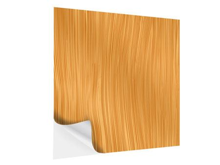 Klebeposter Wooden