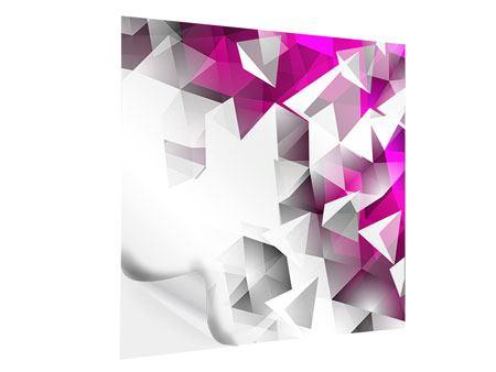 Klebeposter 3D-Kristalle Pink