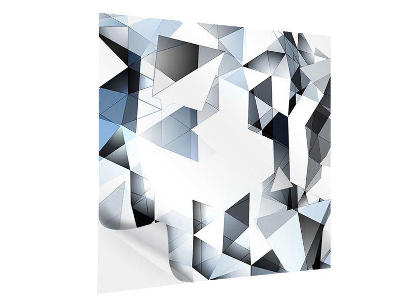 Klebeposter 3D-Kristalle