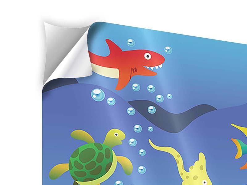Klebeposter Lustige Fische