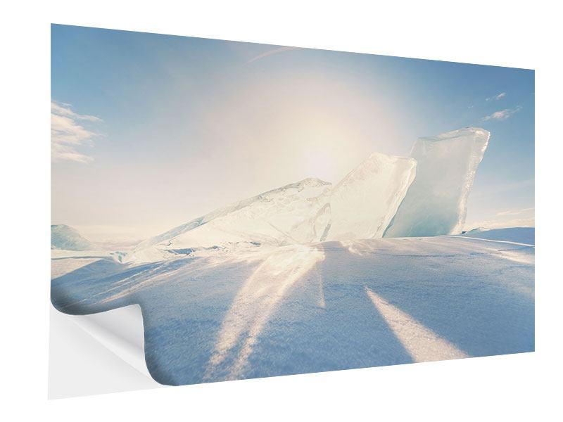 Klebeposter Eislandschaft