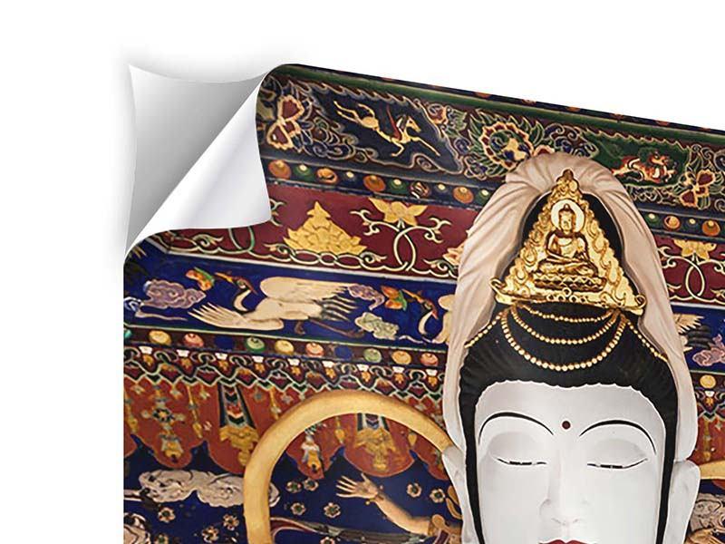 Klebeposter Meditierende Buddha-Statur
