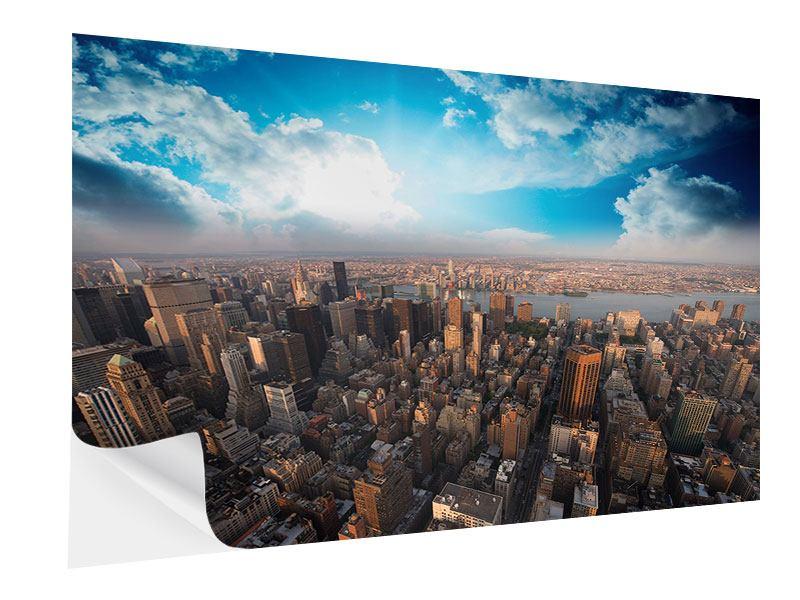 Klebeposter Skyline Über den Dächern von Manhattan