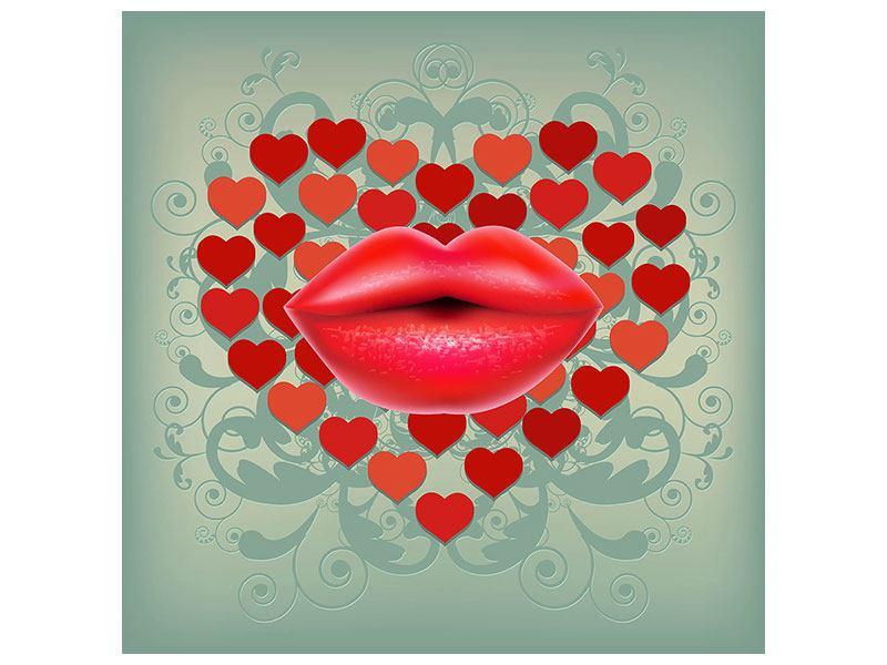 Klebeposter Rote Lippen soll man küssen