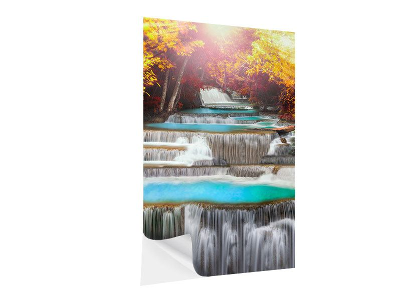 Klebeposter Huay Mae Khamin Wasserfall