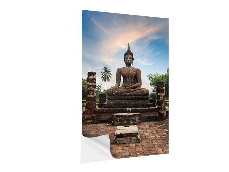 Klebeposter Buddha Statue