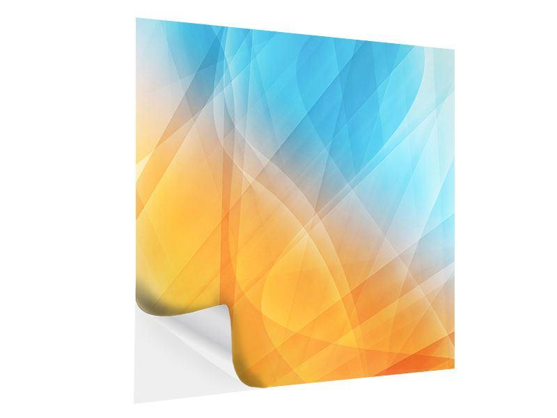 Klebeposter Abstrakte Fliessende Farben