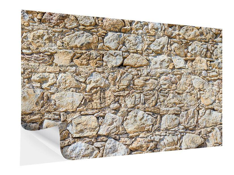 Klebeposter Sandsteinmauer