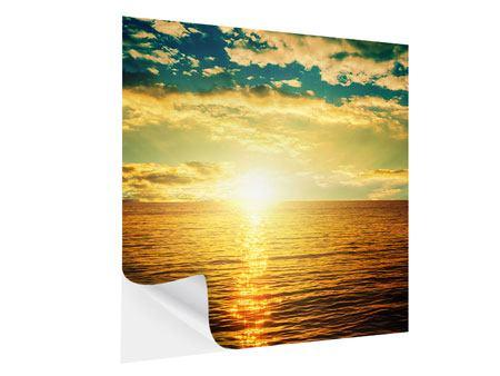 Klebeposter Sonnenuntergang am Meereshorizont