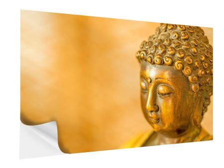 Klebeposter Buddha Kopf