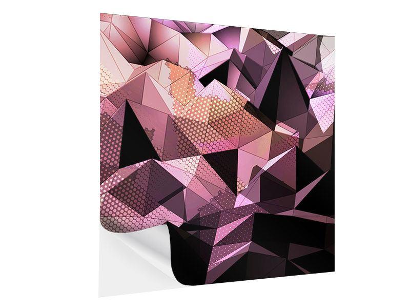 Klebeposter 3D-Kristallstruktur