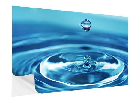 Klebeposter Der Wassertropfen