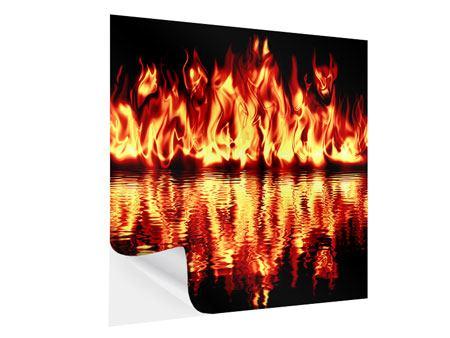 Klebeposter Feuerwasser