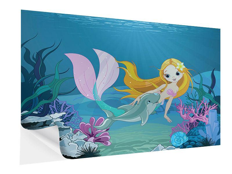 Klebeposter Die Meerjungfrau