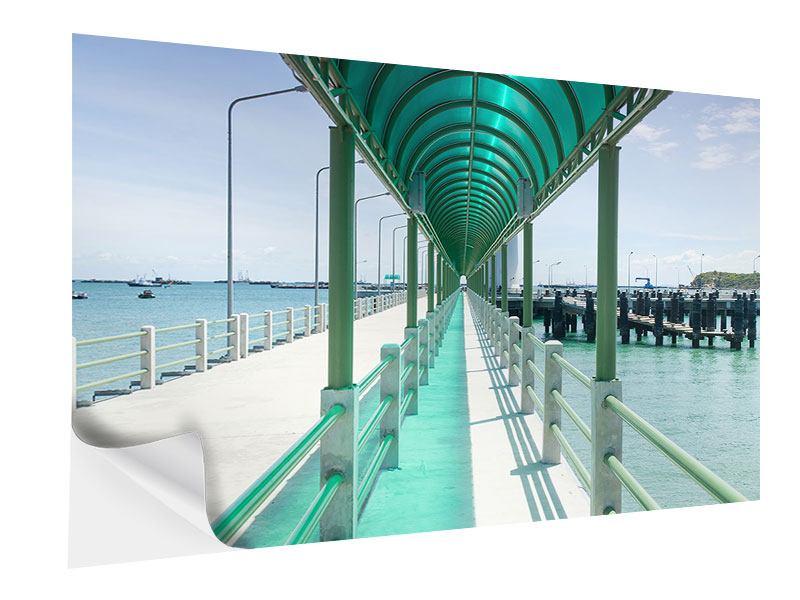 Klebeposter Die Brücke am Meer