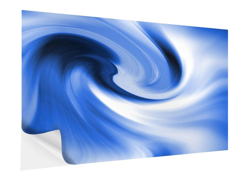 Klebeposter Abstrakte blaue Welle