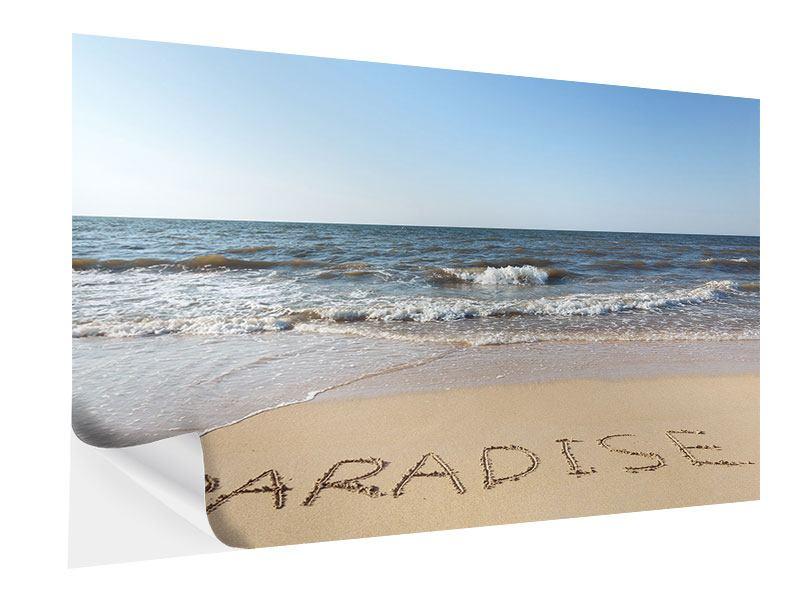 Klebeposter Sandspuren