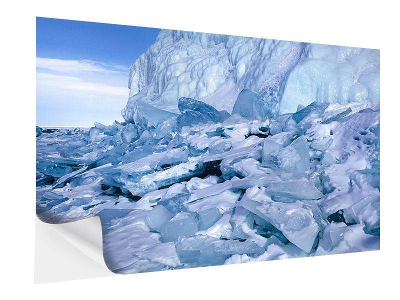 Klebeposter Eislandschaft Baikalsee