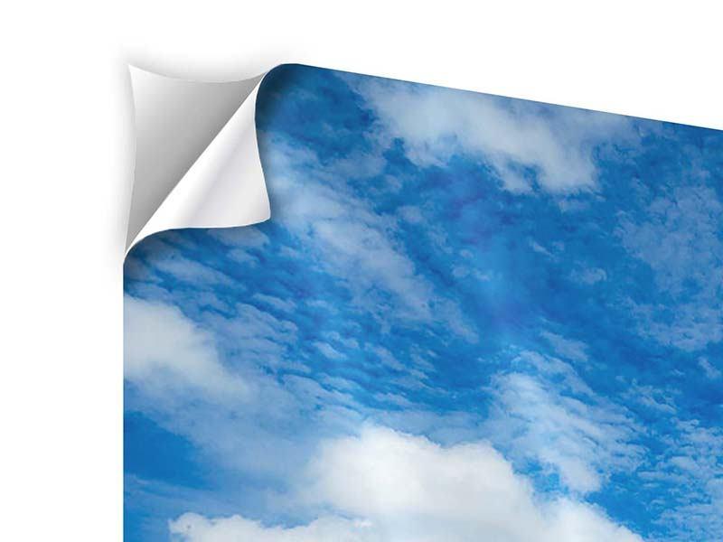 Klebeposter Hoch über den Wolken