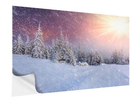 Klebeposter Mystischer Schneesturm