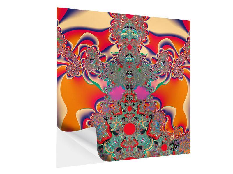 Klebeposter Psychedelische Kunst