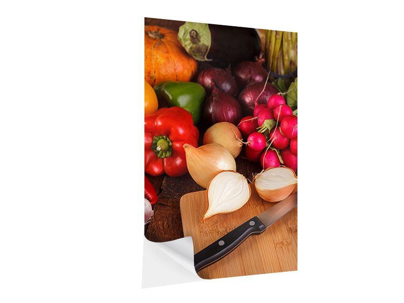 Klebeposter Frisches Gemüse