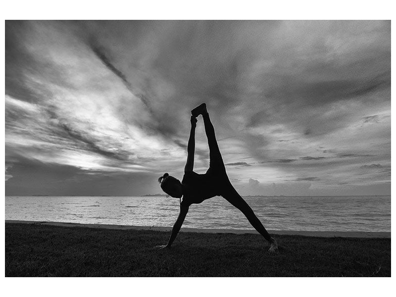 Klebeposter Yoga am Strand