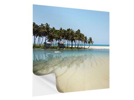 Klebeposter Das Meer und die Insel