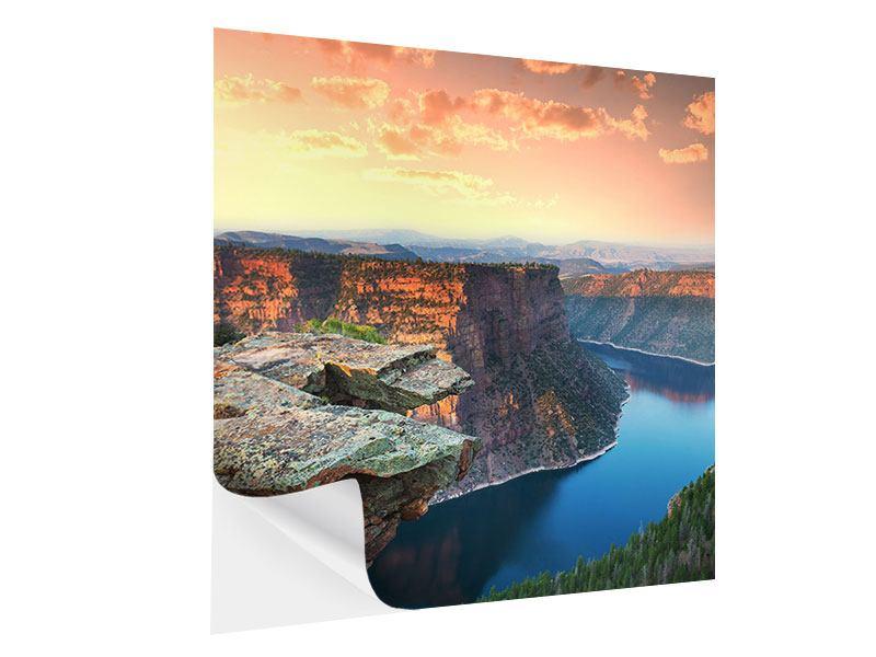 Klebeposter Sonnenuntergang Rocky Mountains