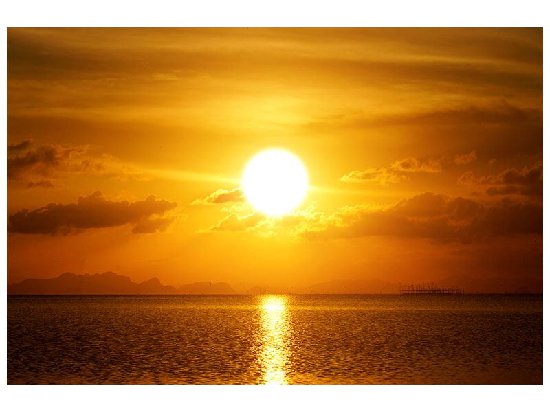 Klebeposter Sonnenuntergang See