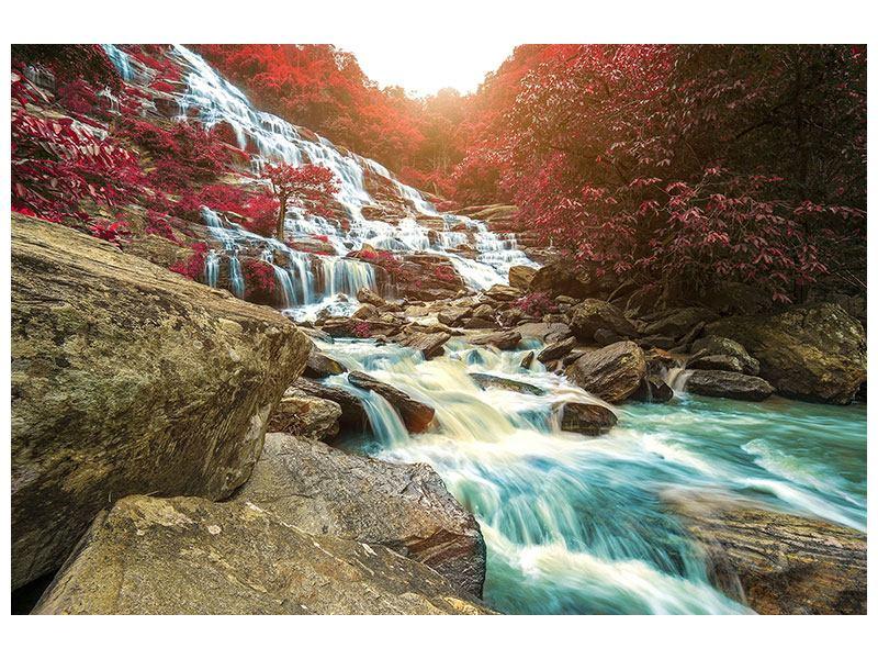 Klebeposter Exotischer Wasserfall