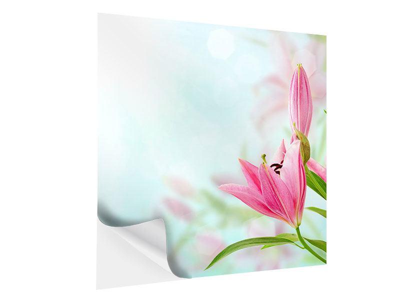 Klebeposter Romantische Lilien