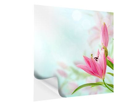 Self-Adhesive Poster Romantic Lilies