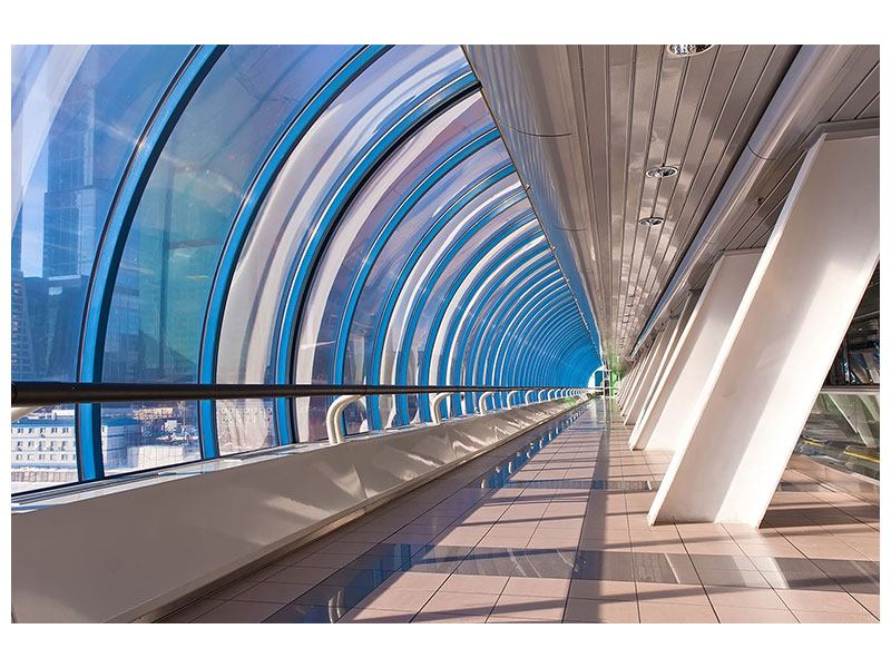 Klebeposter Hypermoderne Brücke