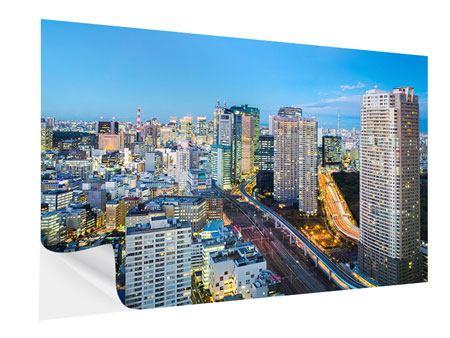 Klebeposter Skyline Tokio im Lichtermeer