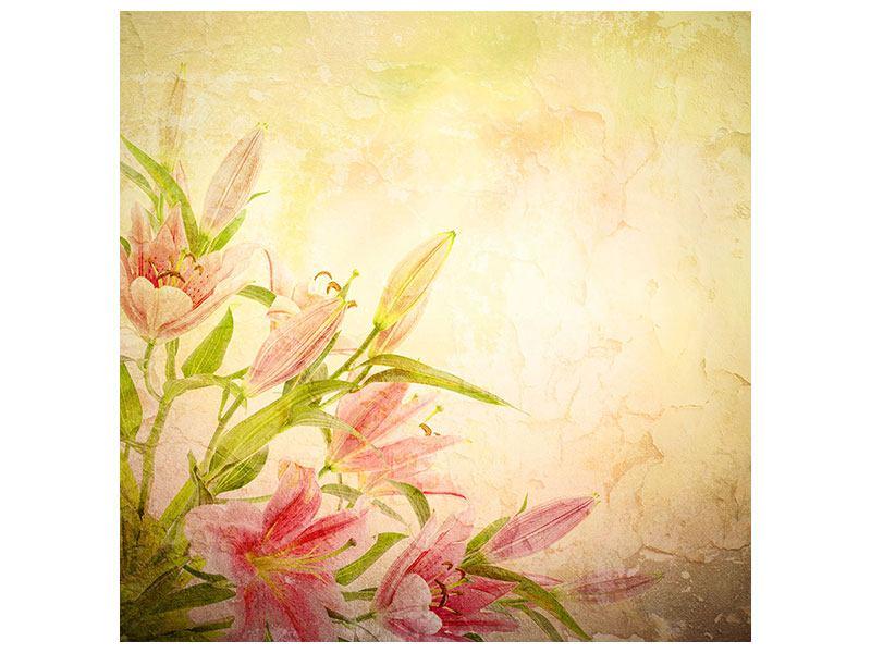 Klebeposter Lilien-Gemälde