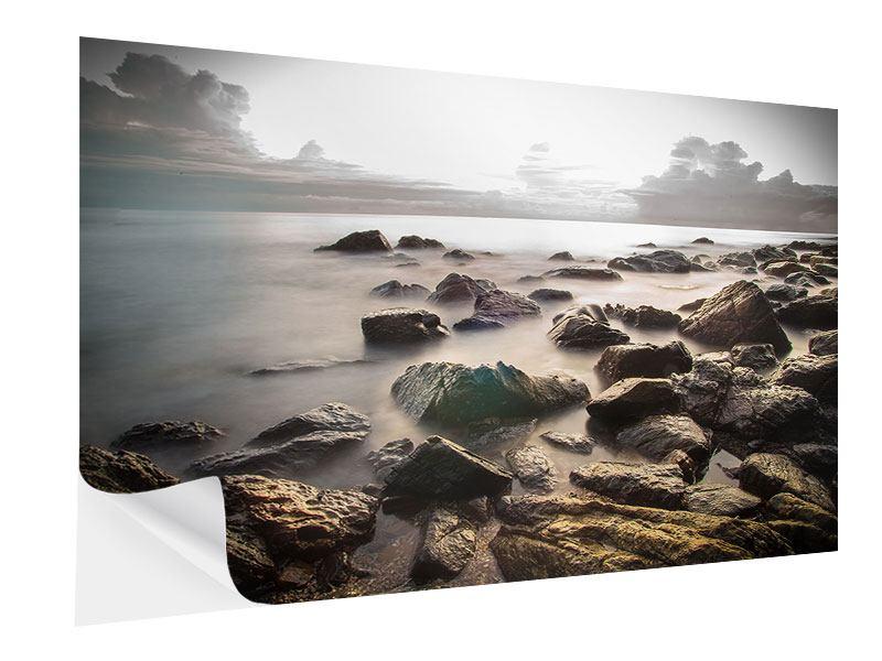 Klebeposter Steine am Strand