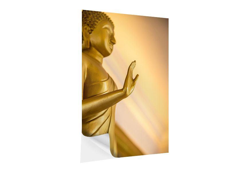 Klebeposter Buddha-Statue