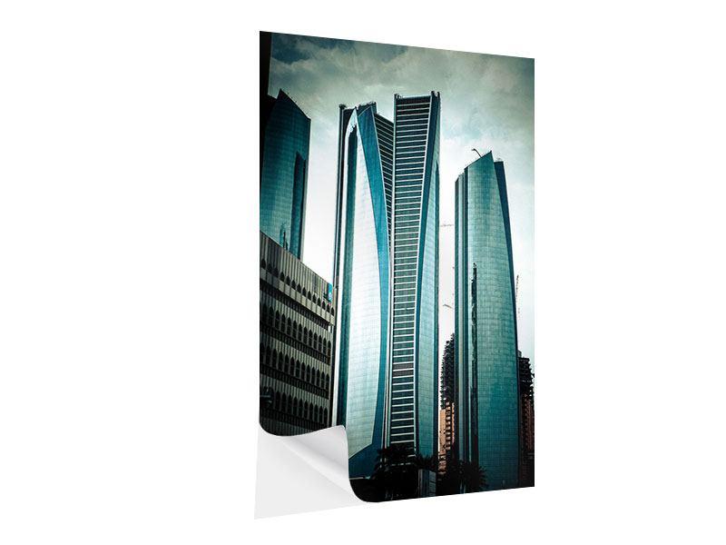 Klebeposter Luxus Wolkenkratzer in Abu Dhabi
