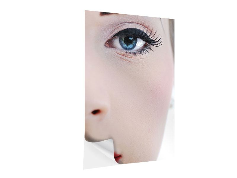 Klebeposter Close Up Face