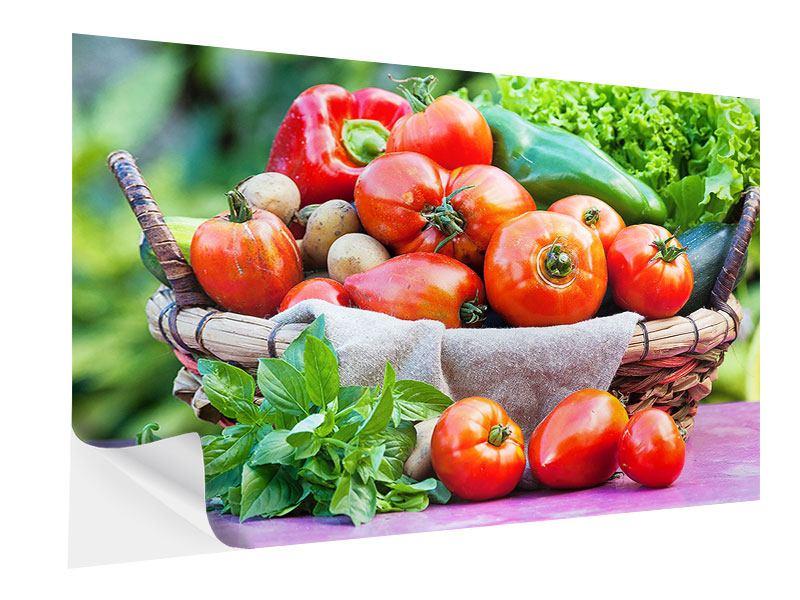 Klebeposter Gemüsekorb
