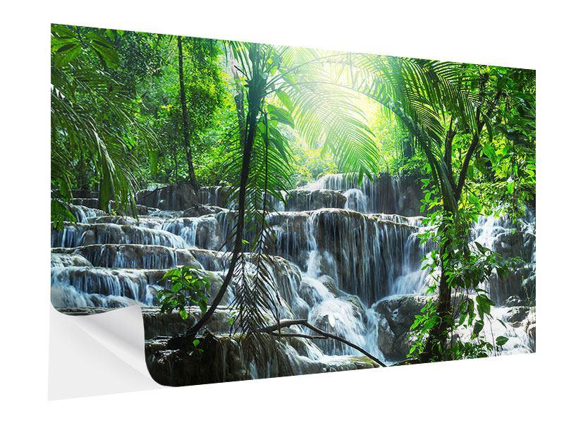 Klebeposter Wasserfall Agua Azul