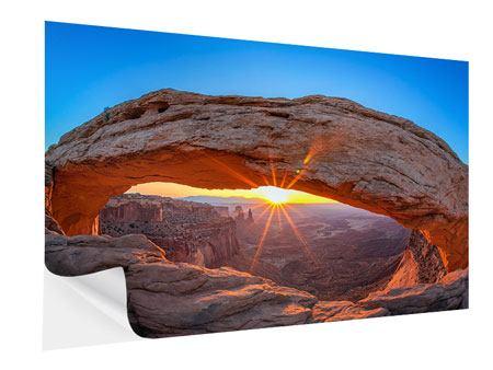 Klebeposter Sonnenuntergang am Mesa Arch