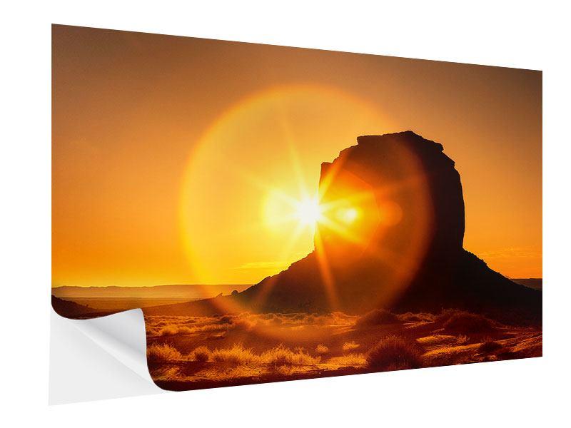 Klebeposter Sonnenuntergang Monument Valley