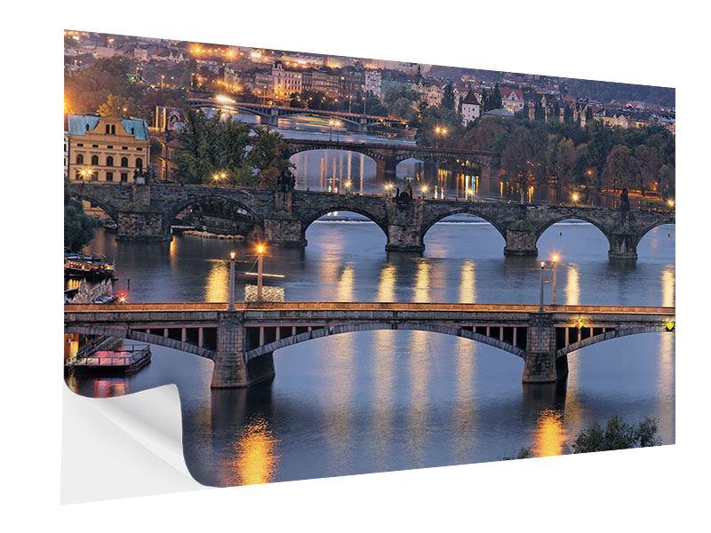 Klebeposter Brücken in Prag