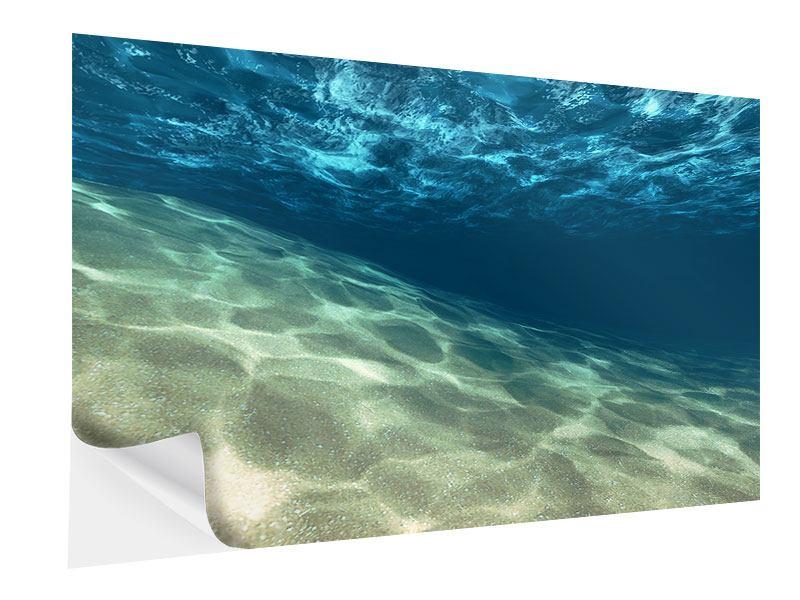 Klebeposter Unter dem Wasser